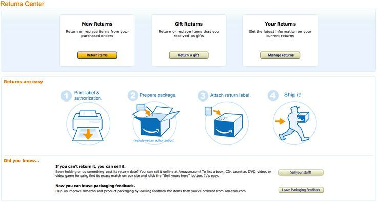How To Return An Amazon Item and Use Free Prepaid Return Labels