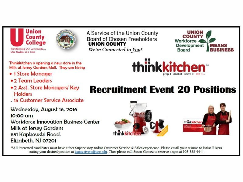 Union County Freeholders Announce 20 New Retail Positions Available For  County Residents