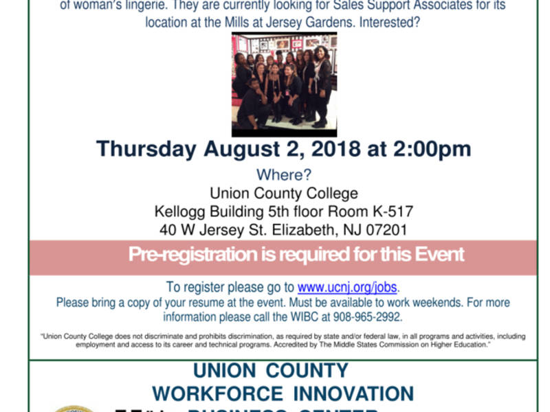 Victoria\u0027s Secret Hiring for 30 Positions in Union County