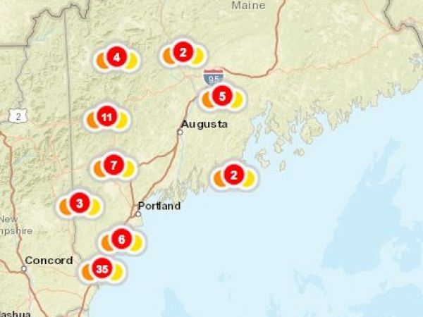 Maine Power Outages 30 000 Still In The Dark Augusta