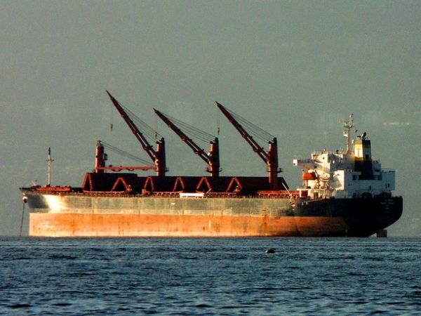 Explosion aboard bulk carrier kills two
