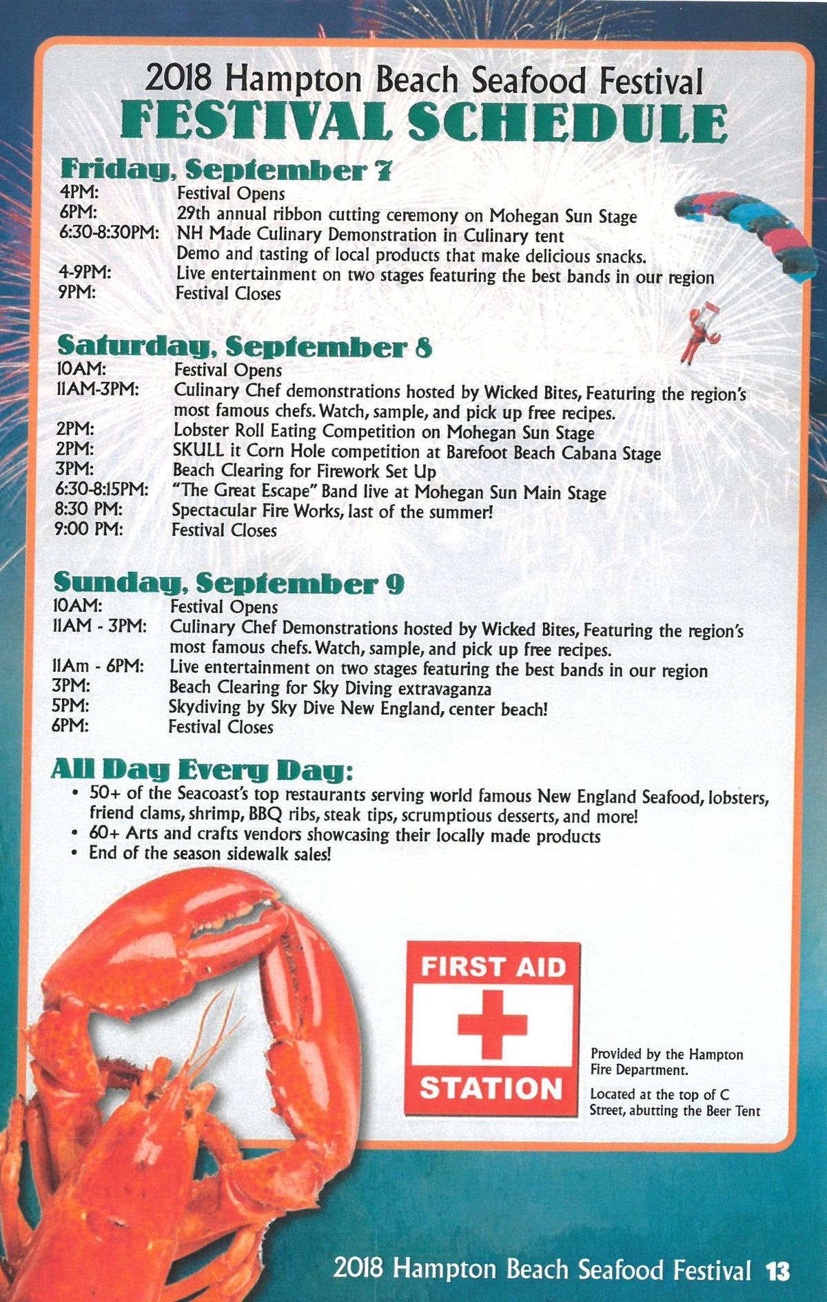 Hampton Beach Seafood Festival This Weekend: Full Schedule