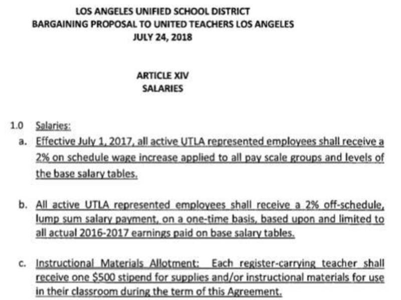 Second Largest School District Faces Teachers Strike Los Angeles