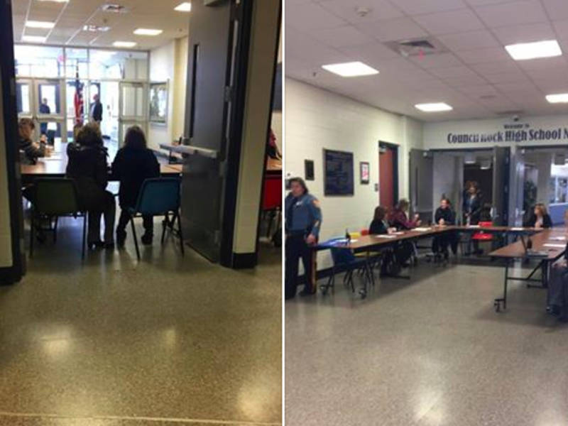 Doors Blocked With Tables During CR-North Walkout Students Say & Doors Blocked With Tables During CR-North Walkout Students Say ...