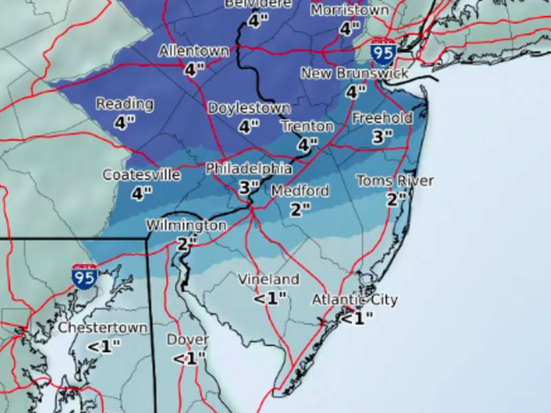 April Snow Storm Timeline For Eastern Pennsylvania