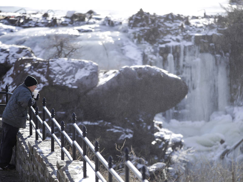 Paterson's Great Falls Nearly Frozen Over [Video] | Wayne, NJ Patch