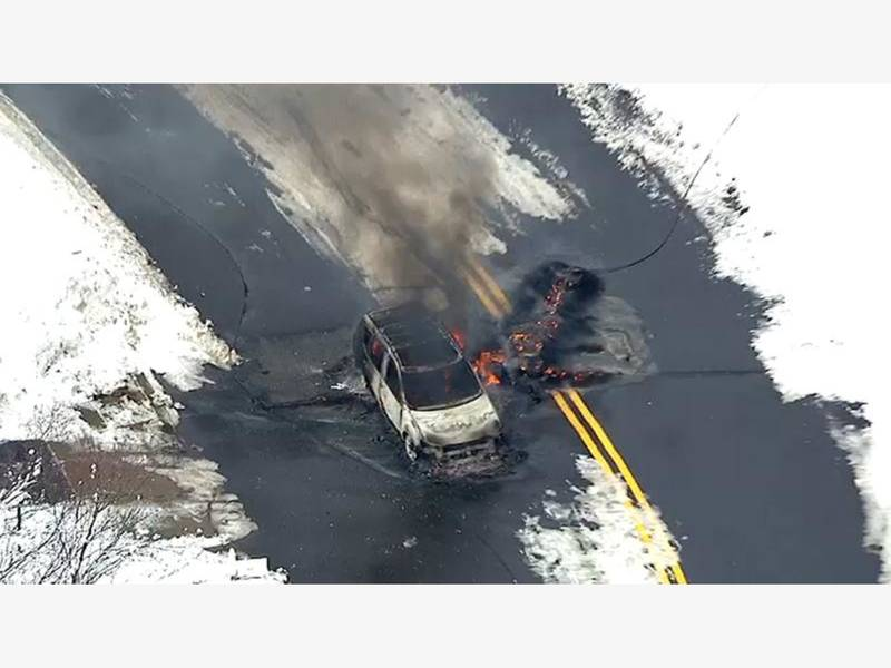 Person Dies After Driving Car Over Live Wire: Police [Video ...