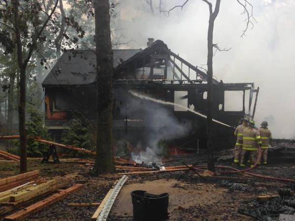 Long Island Home Burns To Ground After Lightning Strike