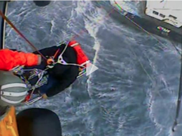 Coast Guard helicopter evacuates distressed man from fishing vessel off Montauk's coast