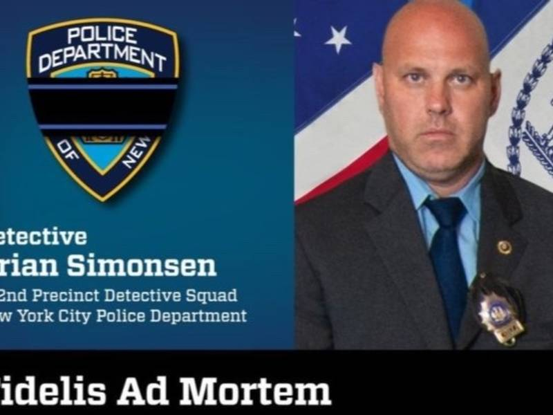 Honoring Fallen NYPD Hero: Streets To Be Lined With Blue Ribbons