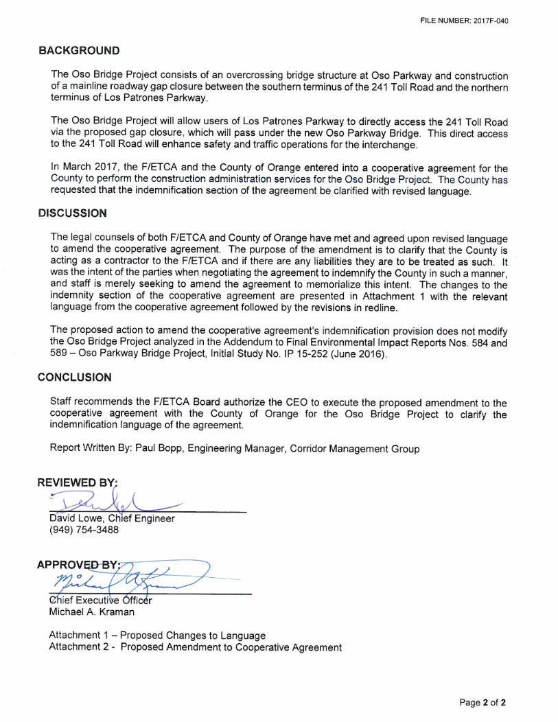 Tca and county to alter oso bridge project cooperative agreement source httptcavicclerkwebusercontrolspdfwebdocpdfwrapperpxp1aoid70 page 201 of 280 platinumwayz