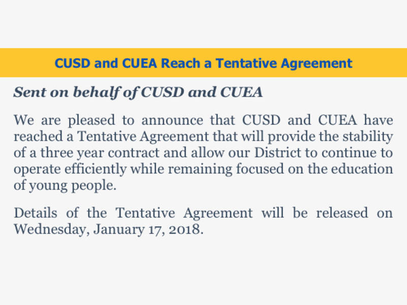 Cusdwatch Cusd And Teachers Reach A Tentative Agreement San Juan
