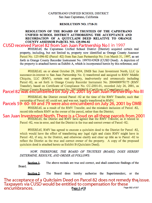 The toll road is being graded on district property san juan construction of the tesoro extension of the 241 should be enjoined while property rights are settled and clouds on the titles to parcels 59 60 69 79 and yadclub Images