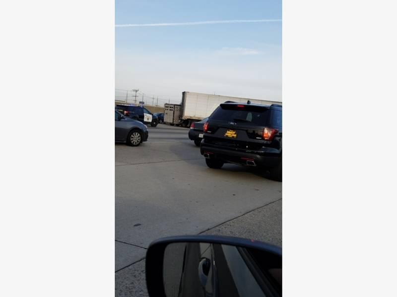 Jackknifed Big Rig Slowed Traffic On I-580   Pleasanton ...
