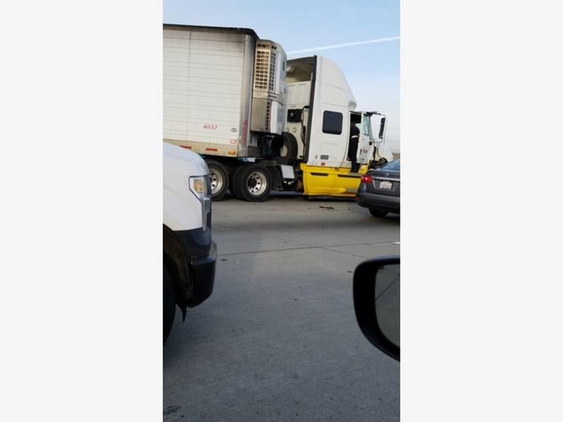 Jackknifed Big Rig Slowed Traffic On I-580   Patch
