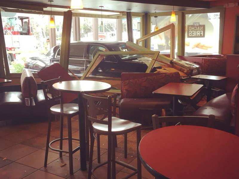 Limo Crashes Into Danville Taco Bell