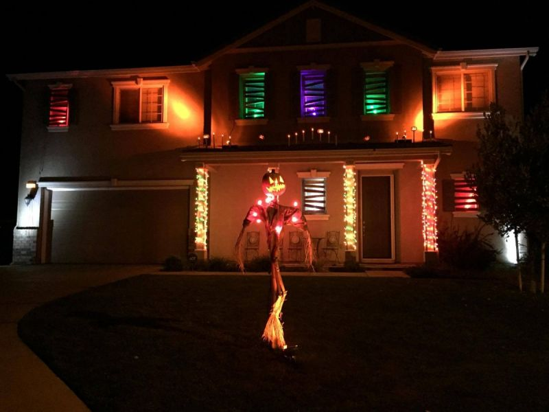 spooky lighting. Beaumont Halloween Home: Family Puts Together Spooky Lights Show For The Season Lighting L