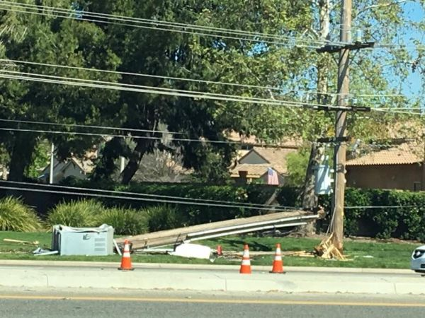 dui driver slams into power pole on temecula parkway