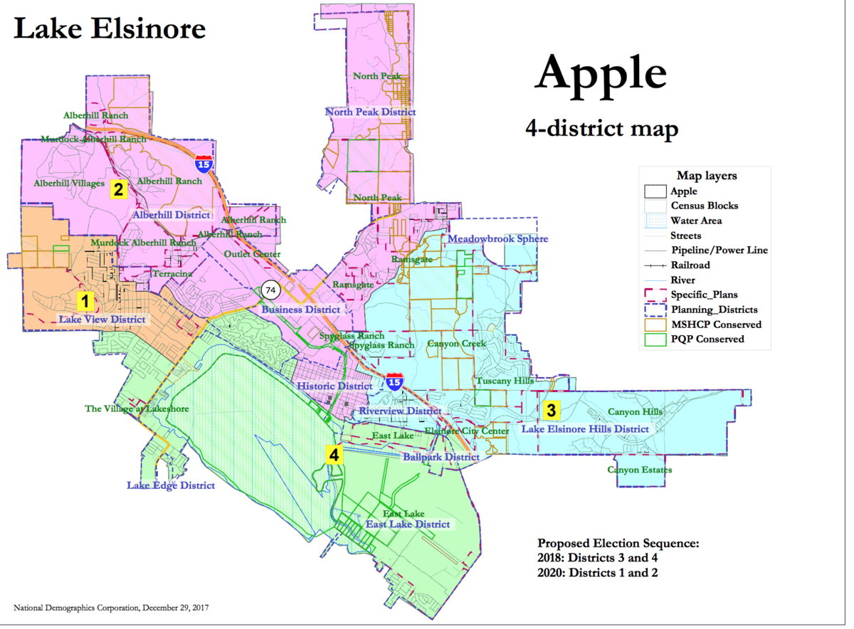 Lake Elsinore Weighs Maps Proposed For New Council Districts Lake