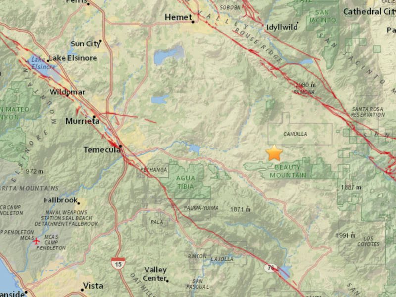 Earthquake Shakes East Of Temecula Temecula CA Patch