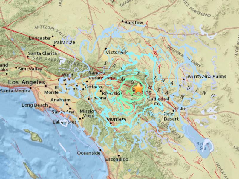 Major Earthquake Shakes Riverside County SoCal Major