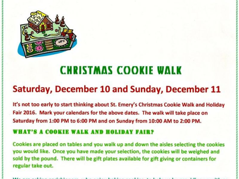 St emery 39 s cookie walk and holiday fair fairfield ct patch for Adams salon kings highway