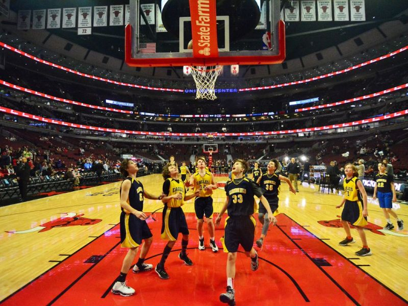 Chms Basketball Teams Play On Chicago Bulls Court Hinsdale Il Patch