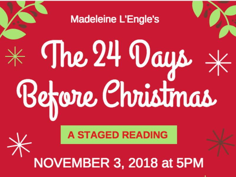3 the 24 days before christmas a staged reading at dac on nov
