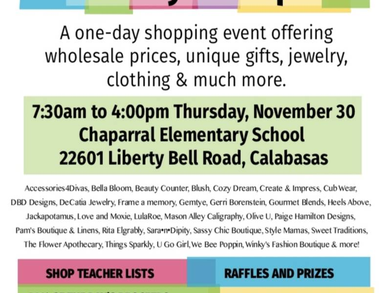 Chaparral Elementary School Holiday Boutique!   Calabasas, CA Patch