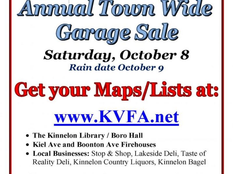 kinnelon town wide garage sale is this saturday