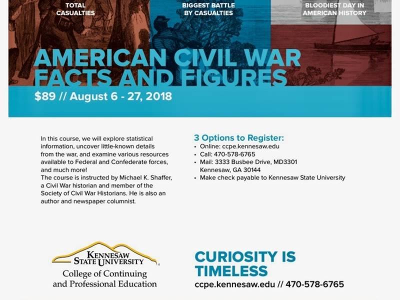 'Civil War Facts & Figures' Course