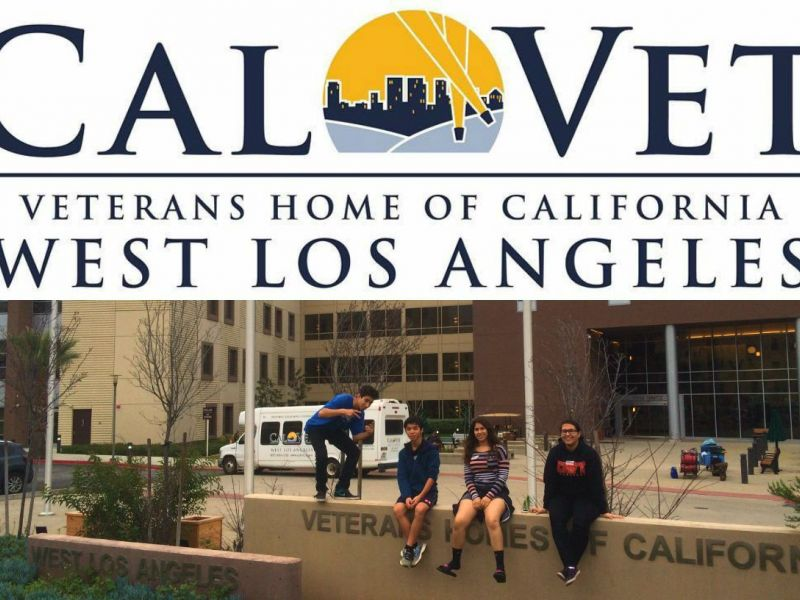 High school marching band members helping veterans find for Buy home in los angeles