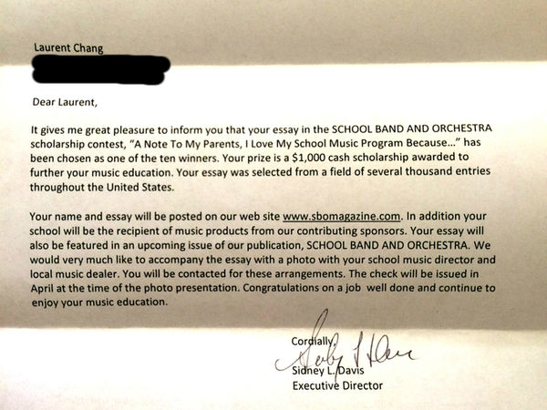 apply for music scholarships