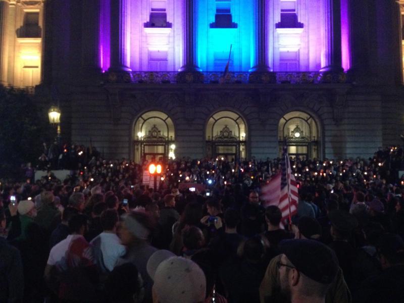 San Francisco Vigil and March Honoring Orlando Victims Draws