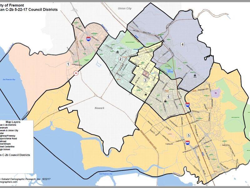 Fremont City Council Approves District Maps Fremont CA Patch