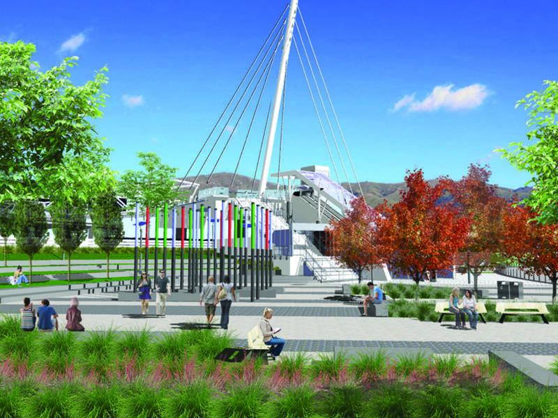 Construction Underway for BART Access Bridge, Plaza