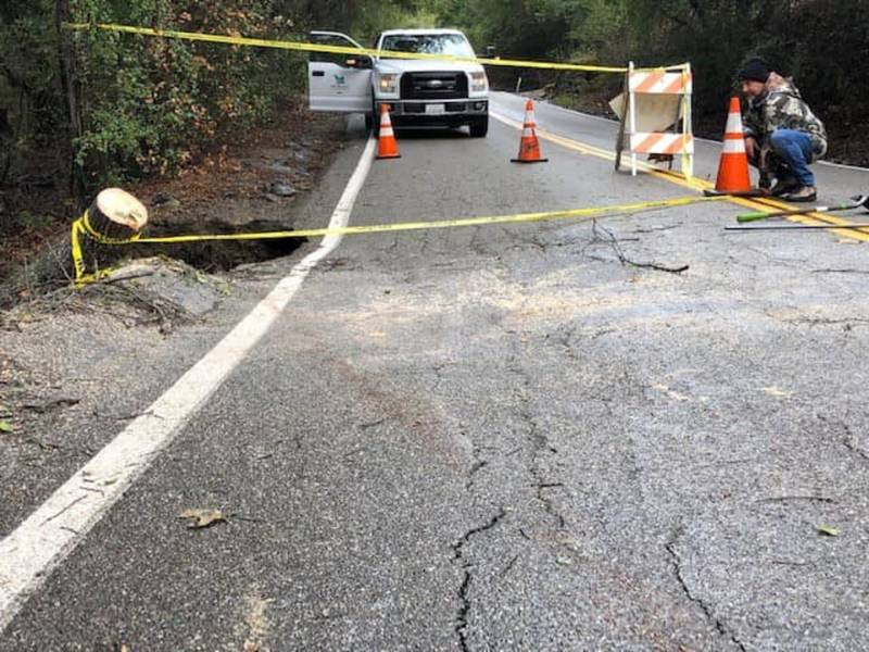 Norris Canyon Road Closed