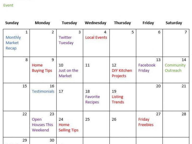 5 reasons why creating a real estate marketing calendar helps your business