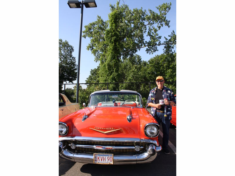 Bedford resident Peter Frasso shows off 1957 Chevrolet at \