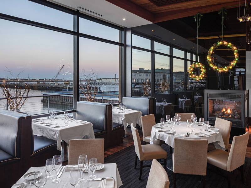 Holiday Lunching At Legal Harborside Floor 2 Boston Ma