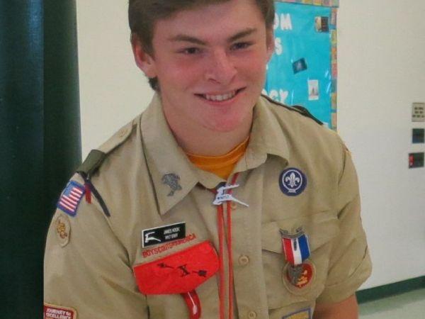 James Hook Earns Boy Scouts Highest Rank | Portsmouth, RI