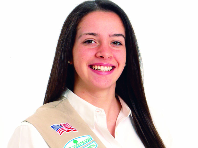 levittown girl scout awarded highest honor levittown ny