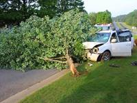Woman Injured When SUV Crashes Into Tree In Canton-0