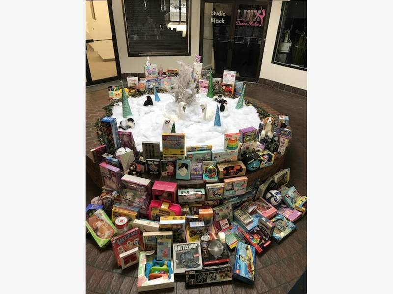 Display Toys For Tots : Toys take over linx s lobby wellesley ma patch