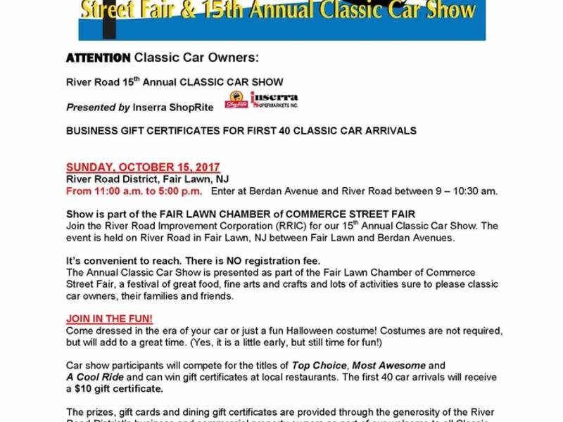 Fair Lawn River Road Classic Car Show Is Soon | Fair Lawn, NJ Patch
