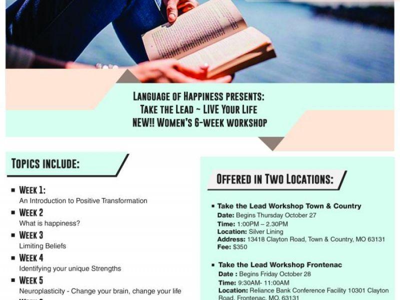 Take The Lead Workshop Kicks Off Oct 27 0