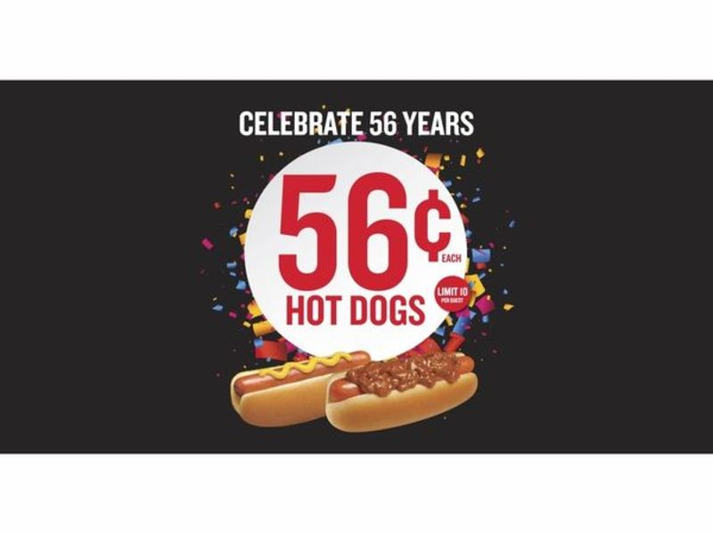 Wienerschnitzel Celebrates 56 Years With 56 Cent Hot Dogs July 11