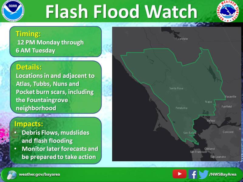 North Bay Flash Flood Watch: Mudslides, Debris Flow Possible | Napa ...