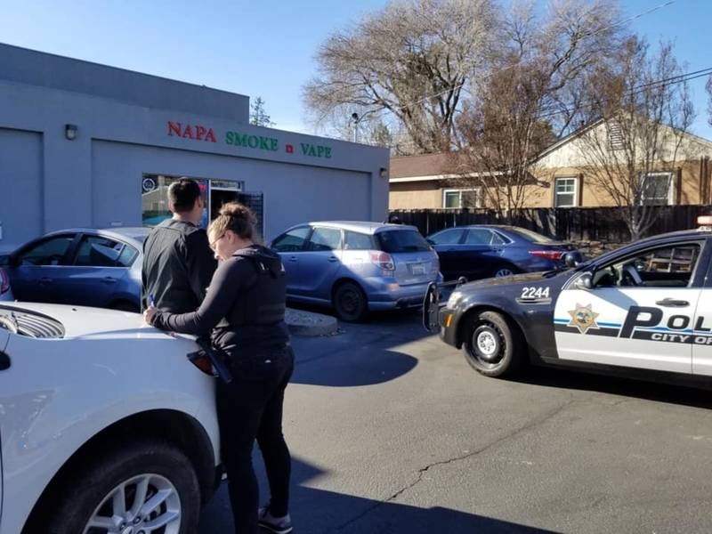 ... An NSIB investigation of Napa Vape and Smoke culminated Thursday, March 14, 2019 when