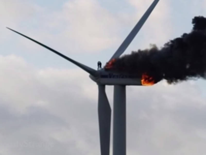 Image result for picture of turbines on fire